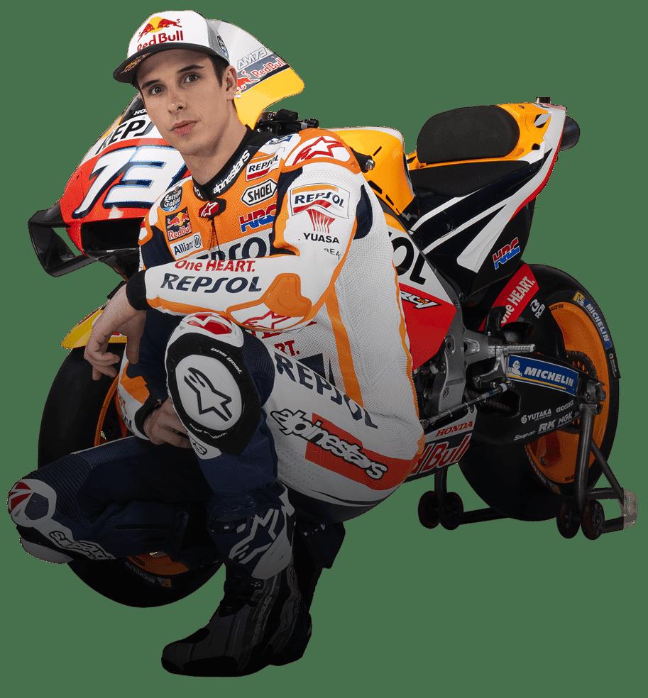 Alex Márquez con su moto